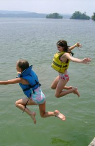 Day Camp Highlight - Jumping into Lake