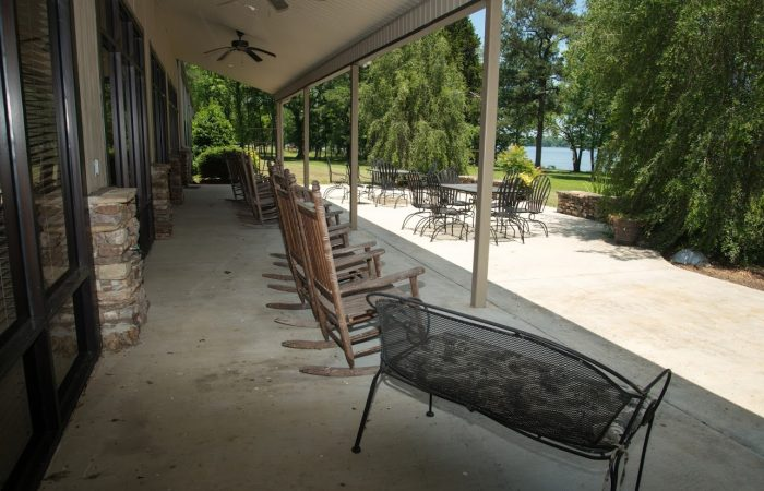 lakeside porch